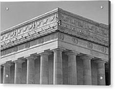 Lincoln Memorial Columns Bw Acrylic Print by Susan Candelario
