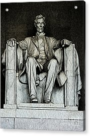 Acrylic Print featuring the digital art Lincoln Memorial by Kenneth Montgomery