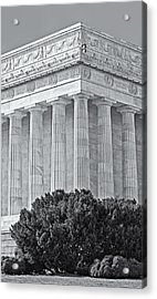 Lincoln Memorial Pillars Bw Acrylic Print by Susan Candelario
