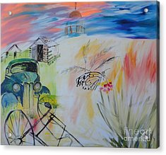 Acrylic Print featuring the painting Lincoln Nebraska by PainterArtist FIN