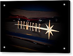 Acrylic Print featuring the photograph Lincoln Premiere Emblem by Joann Copeland-Paul