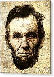 Lincoln Sepia Grunge Acrylic Print