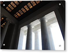 Lincoln Stained Glass And Columns Acrylic Print