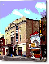 Lincoln Theatre Acrylic Print by Charles Shoup
