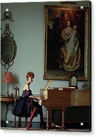 Linda Evangelista At A Piano Acrylic Print