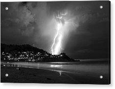 Linda Mar Lightning Acrylic Print