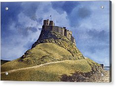 Acrylic Print featuring the painting Lindisfarne Castle by Tom Wooldridge