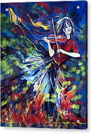 Lindsey Stirling. Dancing Violinist Acrylic Print