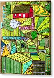 Line Dance Acrylic Print