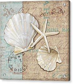 Linen Shells I Acrylic Print