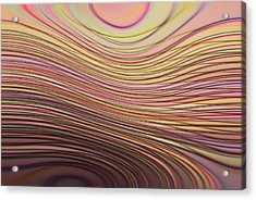 Lines And Circles -p08a Acrylic Print by Variance Collections