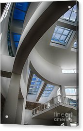 Lines And Curves Acrylic Print by Anne Rodkin