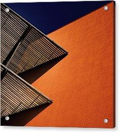 Lines And Shadows. Acrylic Print by Harry Verschelden