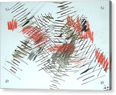 Acrylic Print featuring the painting Lines In Movement by Esther Newman-Cohen