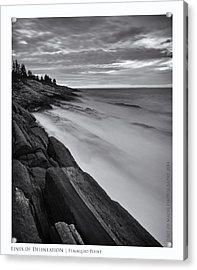 Lines Of Delineation Acrylic Print