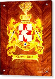 Linford Coat Of Arms Honoring My Ancestors Especially John And Maria Linford Acrylic Print by Richard W Linford