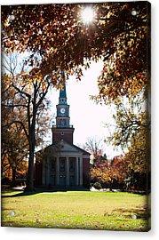 Lingle Chapel - Davidson College Acrylic Print by Paulette B Wright