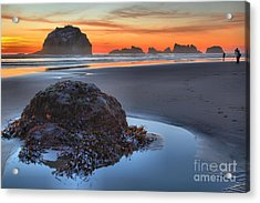 Lining Up For The Shot Acrylic Print by Adam Jewell