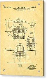 Link Flight Simulator Patent Art 2 1931 Acrylic Print
