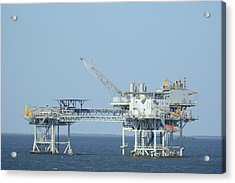 Linked Oil Platforms Acrylic Print