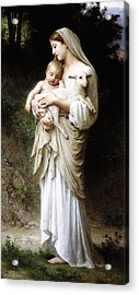 Acrylic Print featuring the digital art L'innocence By Bouguereau by Bouguereau