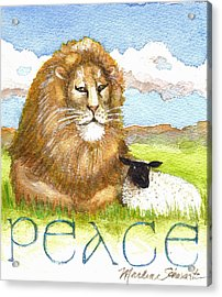 Lion And Lamb - Peace  Acrylic Print