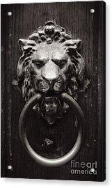 Lion Door Knocker Acrylic Print by Carol Groenen