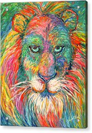 Lion Explosion Acrylic Print by Kendall Kessler
