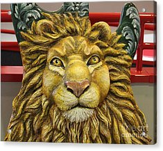 Lion Face Guitar Acrylic Print by Cynthia Snyder
