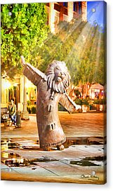 Lion Fountain Acrylic Print