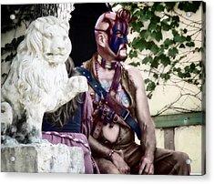 Lion Man Acrylic Print by Thomas Woolworth