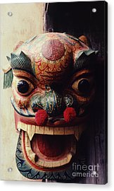 Lion Mask For Chinese New Year Acrylic Print by Anna Lisa Yoder