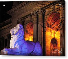 Lion Nyc Public Library Acrylic Print