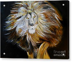 Acrylic Print featuring the painting Lion Of Judah by Amanda Dinan