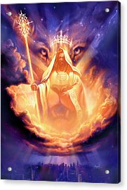 Lion Of Judah Acrylic Print by Jeff Haynie