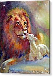 Lion Of Judah Lamb Of God Acrylic Print by Judy Downs
