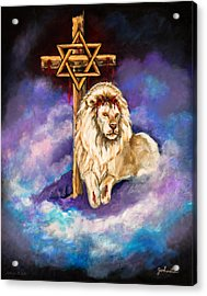 Lion Of Judah Original Painting Forsale Acrylic Print