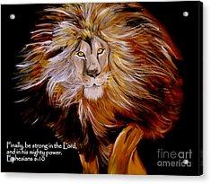 Lion Of Judah Strength Acrylic Print