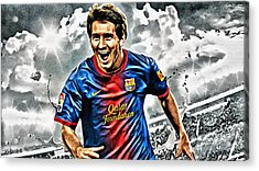 Lionel Messi Celebration Poster Acrylic Print