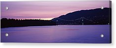 Lions Gate Bridge At Dusk, Vancouver Acrylic Print