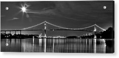 Lions Gate Bridge Black And White Acrylic Print