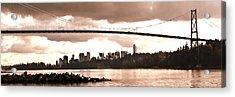 Lions Gate Bridge Panorama Acrylic Print by Patricia Keith