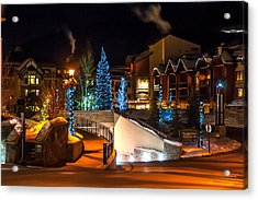 Lions Head Village Vail Colorado Acrylic Print