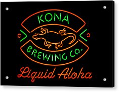 Liquid Aloha Acrylic Print
