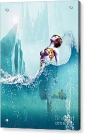 Liquid Fantasy Acrylic Print by Sandra Bauser Digital Art