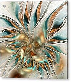 Liquid Flame Acrylic Print