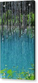Liquid Forest Acrylic Print
