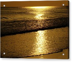 Liquid Gold Acrylic Print by Sandy Keeton