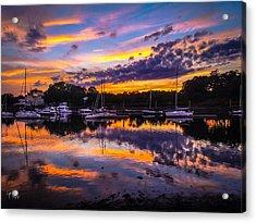 Acrylic Print featuring the photograph Liquid Reflections by Glenn Feron