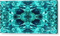 Liquify Aqua Acrylic Print